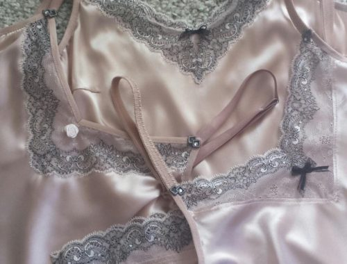 Unterkleid mal 3 in pudrigem Rose aus italienischer Seide